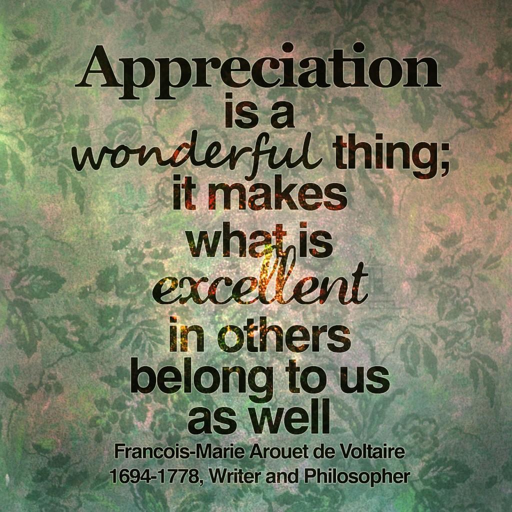 APPRECIATIONwonderful